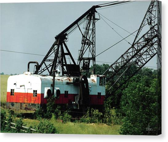 Abandoned Dragline Excavator In Amish Country Canvas Print