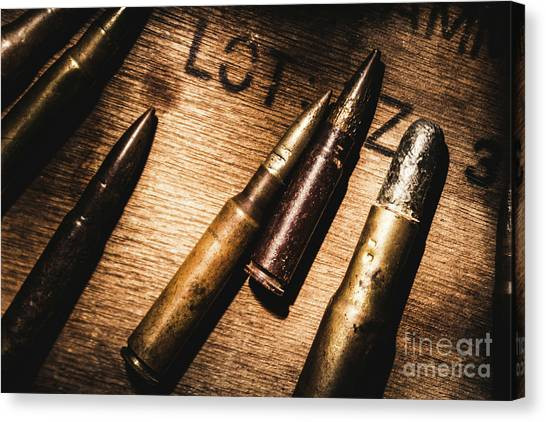 Military Canvas Print - Ammo Supplies by Jorgo Photography - Wall Art Gallery