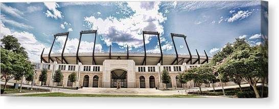 Big Xii Canvas Print - Amon Carter Stadium - Tcu by Stephen Stookey