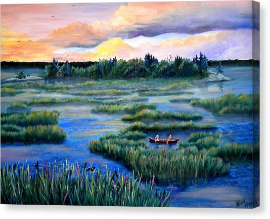 Amongst The Reeds Canvas Print