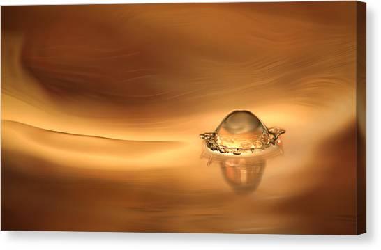 Drops Canvas Print - Amongst The Swirls by Janne Kahila