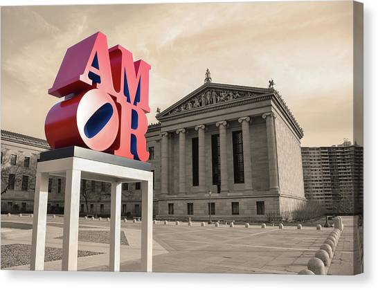 Canvas Print featuring the photograph Amor - Love by Bill Cannon
