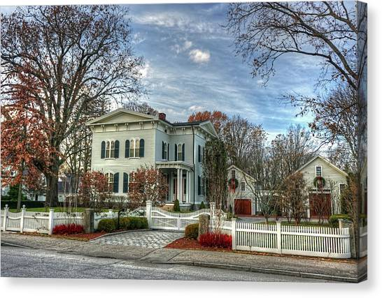 Amos Tuck House In Late Autumn Canvas Print
