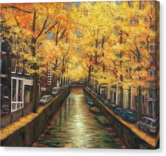 Amsterdam Autumn Canvas Print by Johnathan Harris