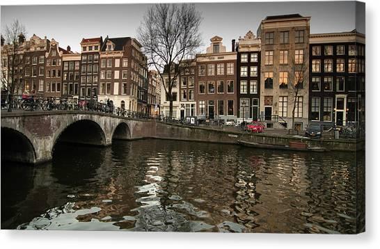 Amsterdam Canal Bridge Canvas Print