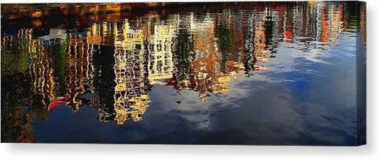 Amsterdam Canal Reflection Canvas Print