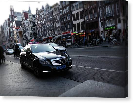 Canvas Print featuring the photograph Amsterdam Traffic 3 by Scott Hovind