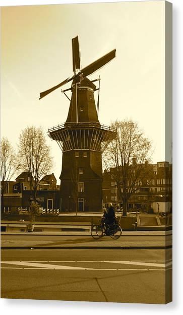 Amsterdam Windmill Canvas Print by Matthew Kennedy