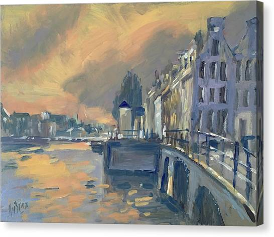 Briex Canvas Print - Amsterdm Morning Light Amstel by Nop Briex