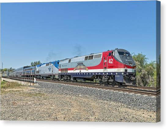 Amtrak 42  Veteran's Special Canvas Print