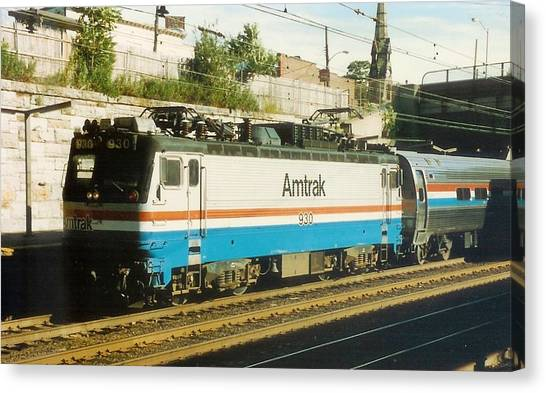 Amtrak Aem-7 Canvas Print
