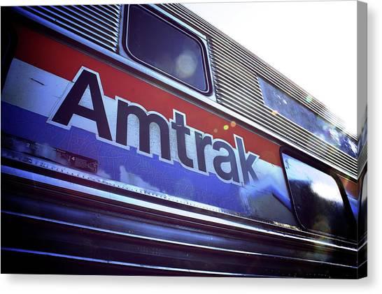 Amtrak Canvas Print - Amtrak by Brandon Addis