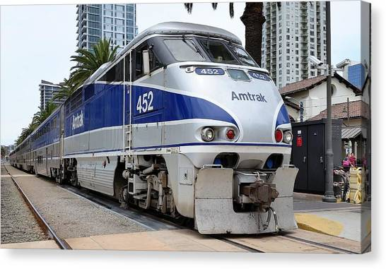 Amtrak F59 At San Diego Canvas Print