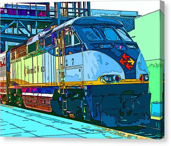 Amtrak Locomotive Study 2 Canvas Print