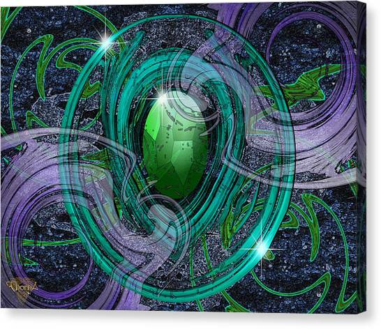 Amulet Canvas Print by Greg Piszko