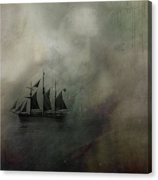 Amundsen And Fram Canvas Print