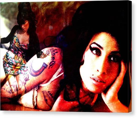 Amy Amy Amy Canvas Print by Ankeeta Bansal