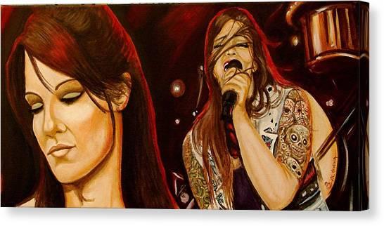 Wwe Canvas Print - Amy Dumas  by Al  Molina