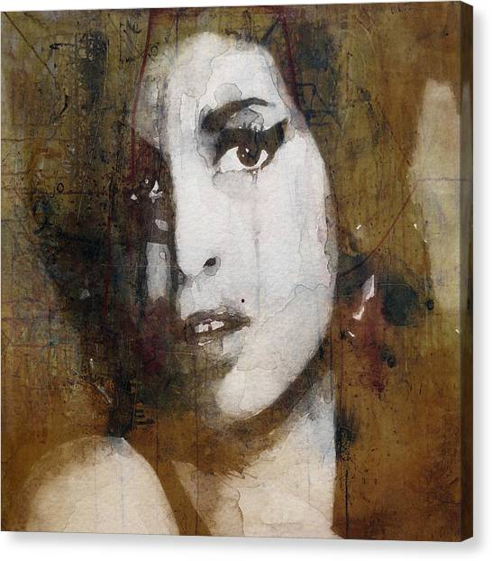 British Canvas Print - Amy Winehouse Love Is A Losing Game  by Paul Lovering