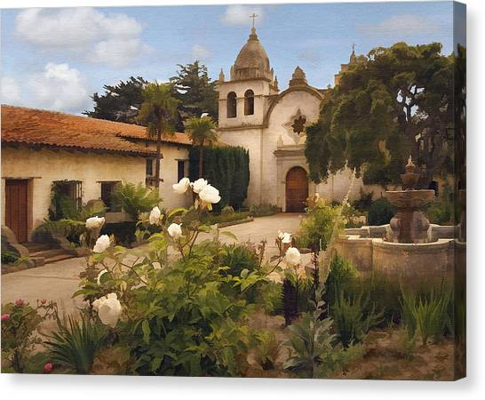 Mission California Canvas Print - Amy's Carmel by Sharon Foster