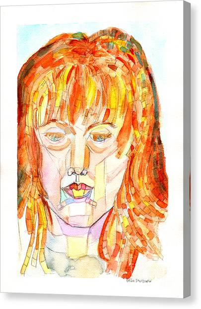 Matting Canvas Print - Face Planes by Debbie Davidsohn