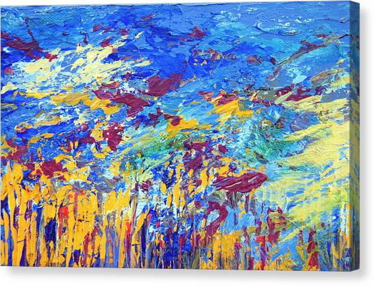 An Abstract Vision Under The Sea Canvas Print