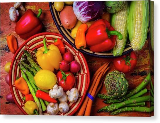 Asparagus Canvas Print - An Abundance Of Vegetables by Garry Gay