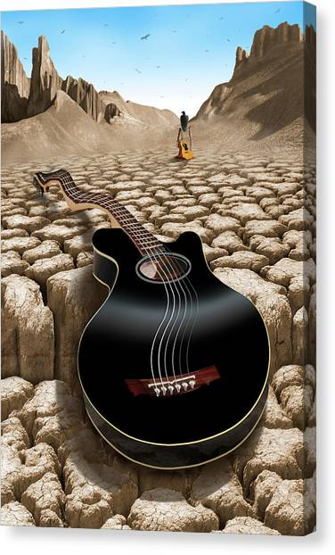 Black Rock Desert Canvas Print - An Acoustic Nightmare 2 by Mike McGlothlen