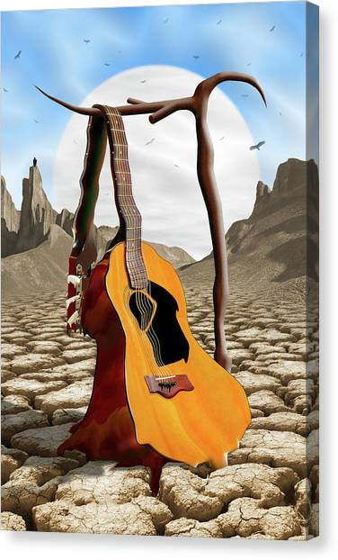 Buzzard Canvas Print - An Acoustic Nightmare by Mike McGlothlen