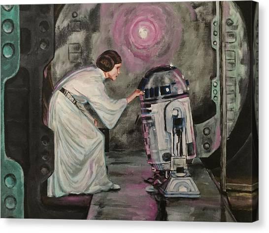 Leia Organa Canvas Print - An Act Of Rebellion by Joel Tesch