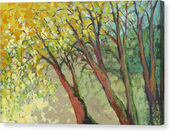 Plein Air Canvas Print - An Afternoon At The Park by Jennifer Lommers