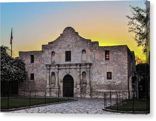 An Alamo Sunrise - San Antonio Texas Canvas Print