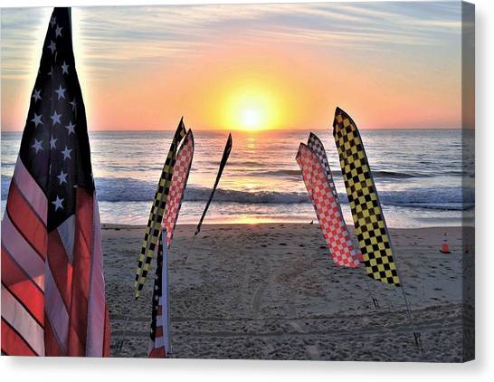 Canvas Print featuring the photograph An All-american Sunrise by Kim Bemis