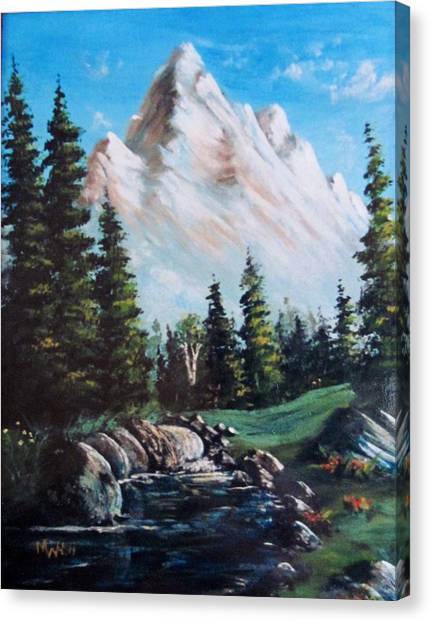An Alpine Stream Canvas Print
