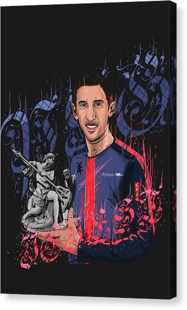 Zlatan Ibrahimovic Canvas Print - An Angel In Paris by Akyanyme