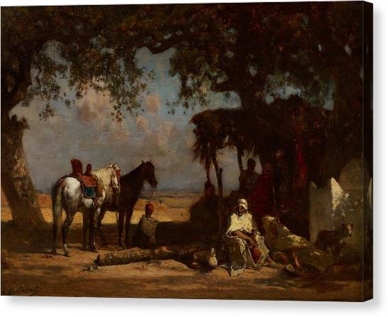 Arabian Desert Canvas Print - An Arab Encampment by Gustave Guillaumet