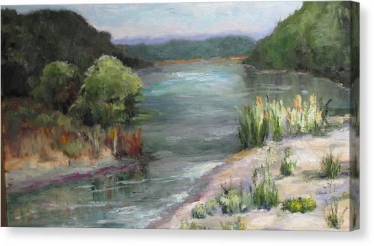 An Arkansas River Sandbar Canvas Print