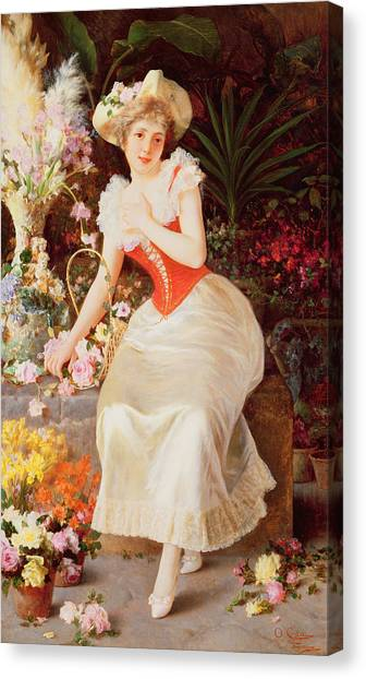 Easter Baskets Canvas Print - An Array Of Beauty by Oreste Costa