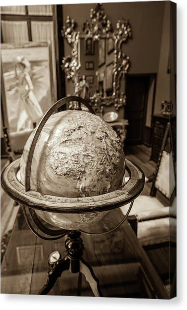 Madrid Canvas Print - An Artists's Globe by W Chris Fooshee