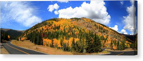 An Autumn Drive - Panorama Canvas Print