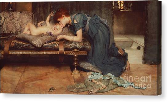 Nude Mom Canvas Print - An Earthly Paradise by Sir Lawrence Alma-Tadema