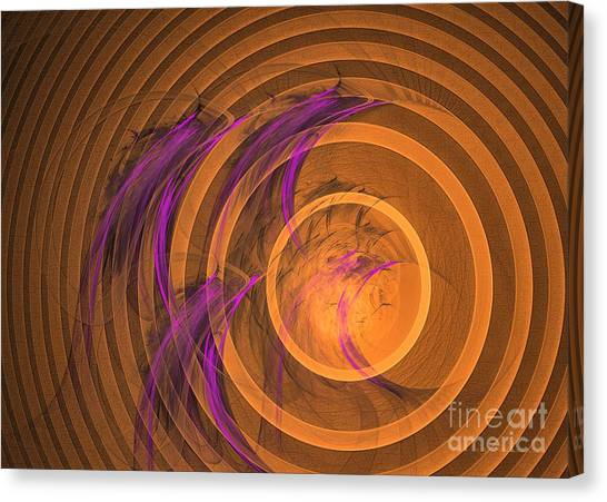 Canvas Print featuring the digital art An Echo From The Past - Abstract Art by Sipo Liimatainen