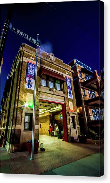 Chicago Fire Canvas Print - An Empty Firehouse By Wrigley Field by Sven Brogren