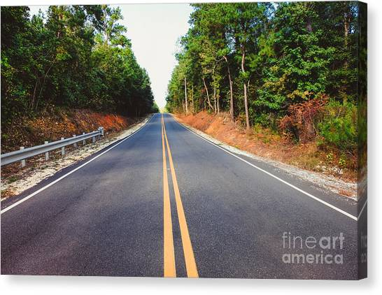 An Empty Road Canvas Print