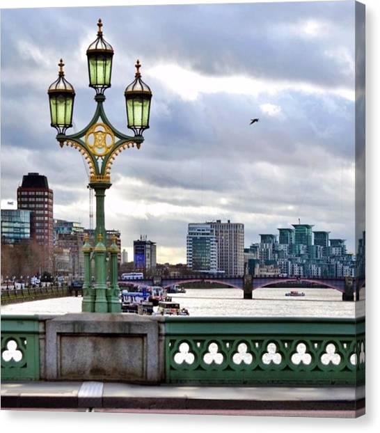 London Canvas Print - An Empty Westminster Bridge • #london by Carlos Alkmin