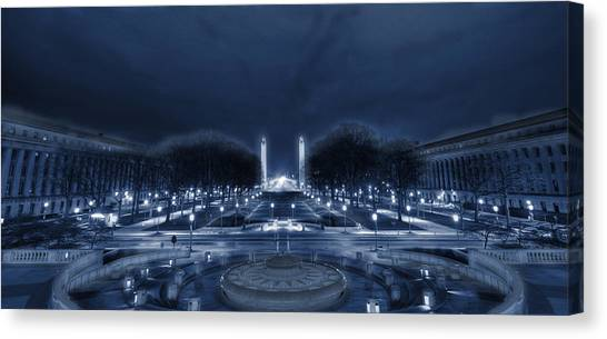 An Evening At The Capitol Canvas Print