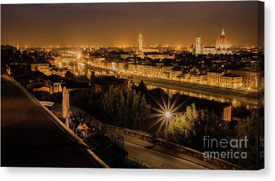 An Evening In Florence Canvas Print