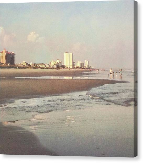 An Evening Walking The Grand Strand Canvas Print
