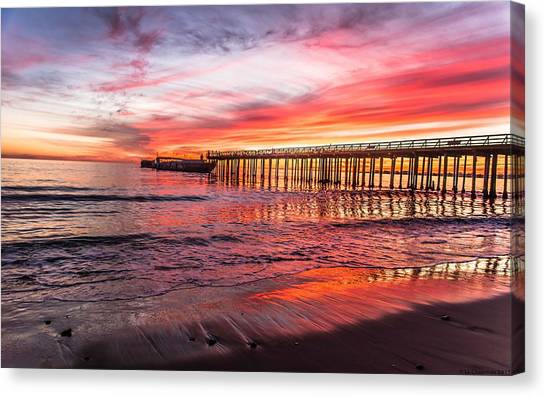 Seacliff Sunset Canvas Print