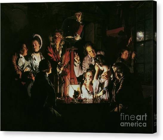 Experimental Canvas Print - An Experiment On A Bird In The Air Pump by Joseph Wright of Derby